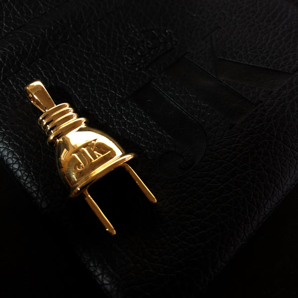 "Gold ""The Plug"" Pendant"