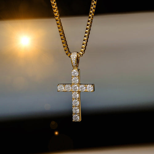Gold Cz Cross Pendant