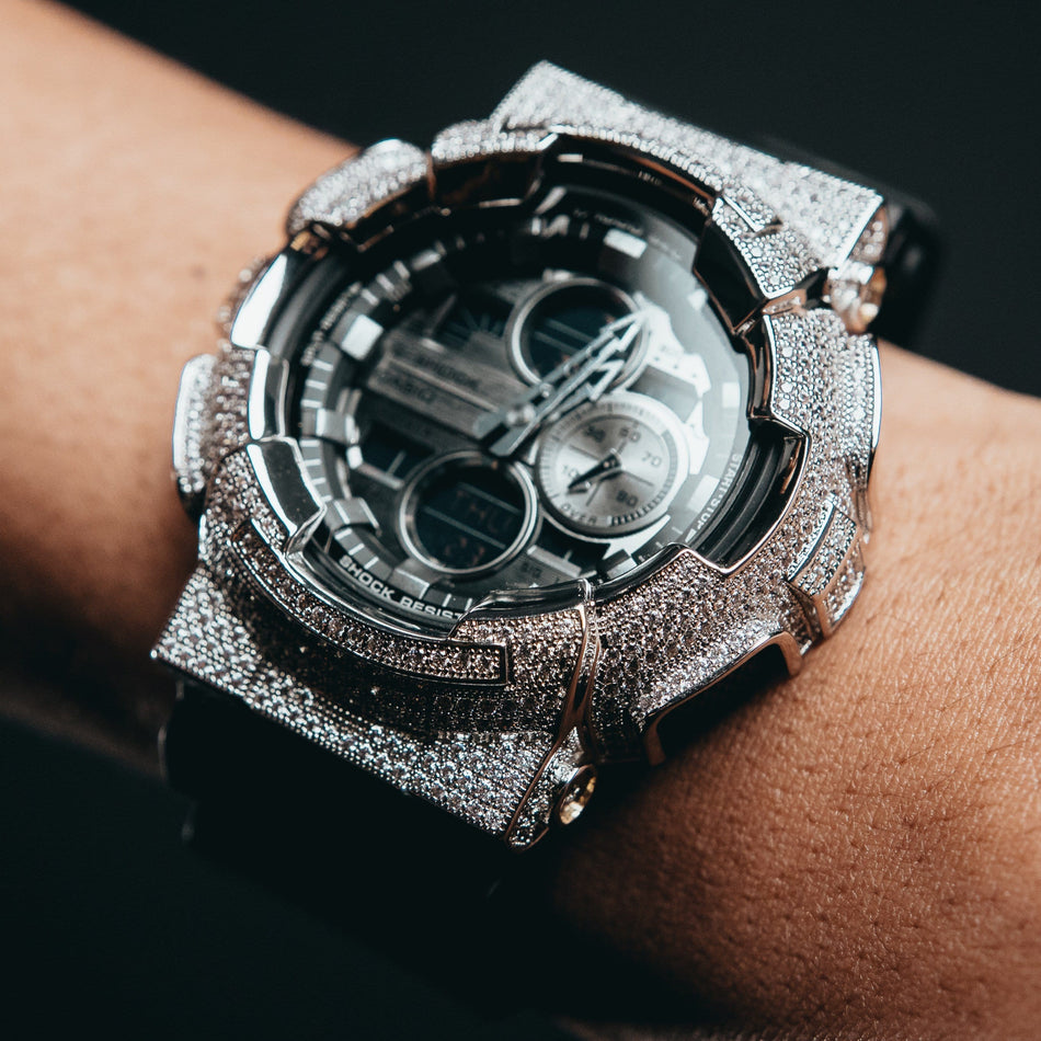 White Gold Iced Out GA140GM-1A1 Watch
