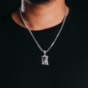 White Gold Jesus Piece Pendant