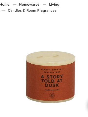 Fc a story told at dusk refill candle