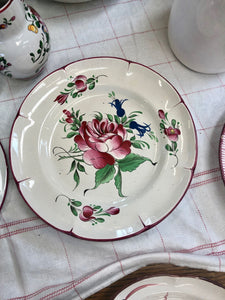 French vintage collectable handpainted plate by Luneville