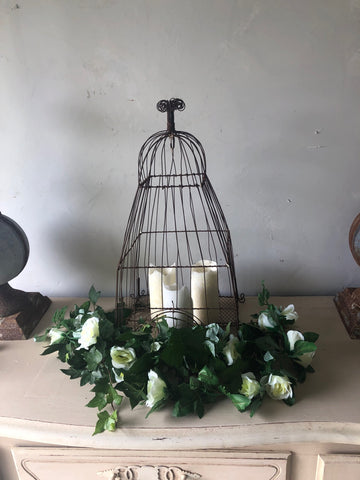 wire birdcage lights