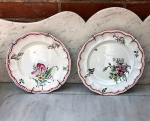 "gorgeous handpainted French ""Luneville"" plates (each)"