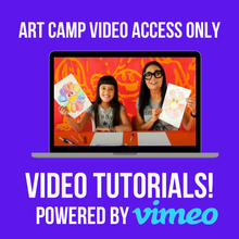 Load image into Gallery viewer, Art Camp in a Box 2021 - VIRTUAL CAMP ACCESS ONLY
