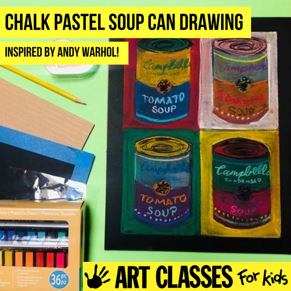 ADVANCED - Chalk Pastel Inspired by Andy Warhol