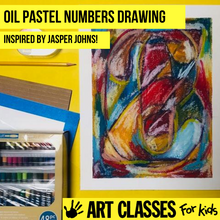Load image into Gallery viewer, BEGINNER - Jasper Johns Inspired Oil Pastel
