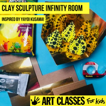Load image into Gallery viewer, BEGINNER - Yayoi Kusama Inspired Pumpkin Clay Sculpture