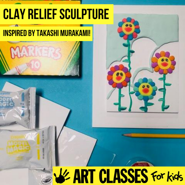 ADVANCED - Clay Relief Sculpture Inspired by Takashi Murakami