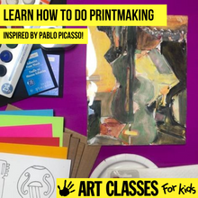 Load image into Gallery viewer, BEGINNER - Pablo Picasso Inspired Printmaking