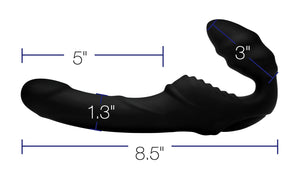 Pro Rider 9x Vibrating Silicone Strapless Strap on