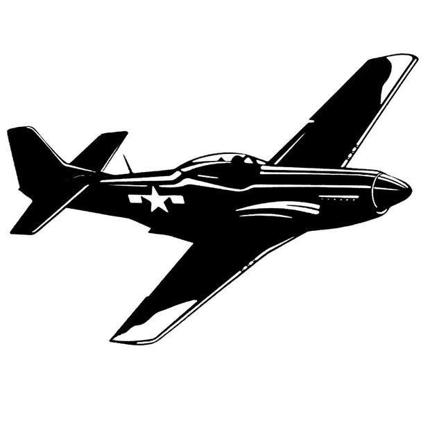 P-51Mustang-Steel-Art-American-fighter-bomber