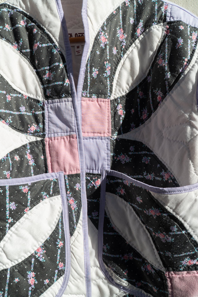 Hawaiian Wedding Ring Cropped Quilt Coat Jess Meany