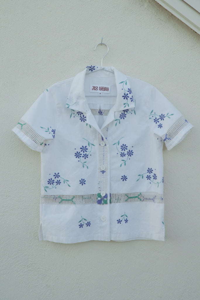 Blue Floral Laguna Lounge Shirt