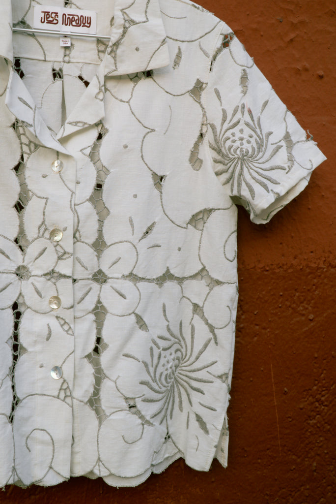 Cutwork Blooms Laguna Lounge Shirt