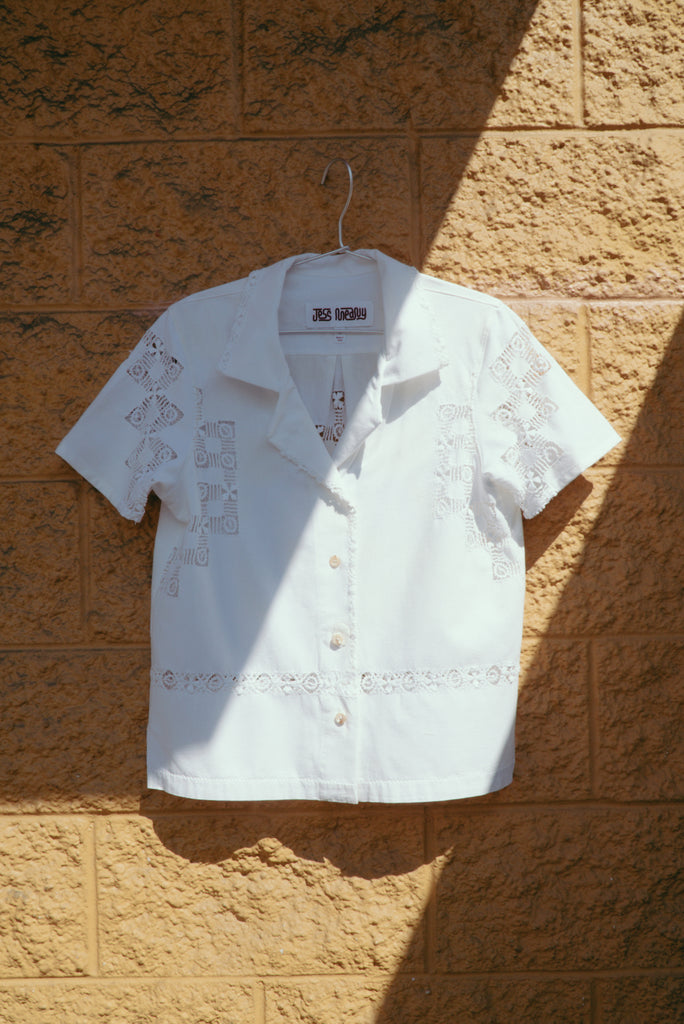 Cotton Draw Work Laguna Lounge Shirt