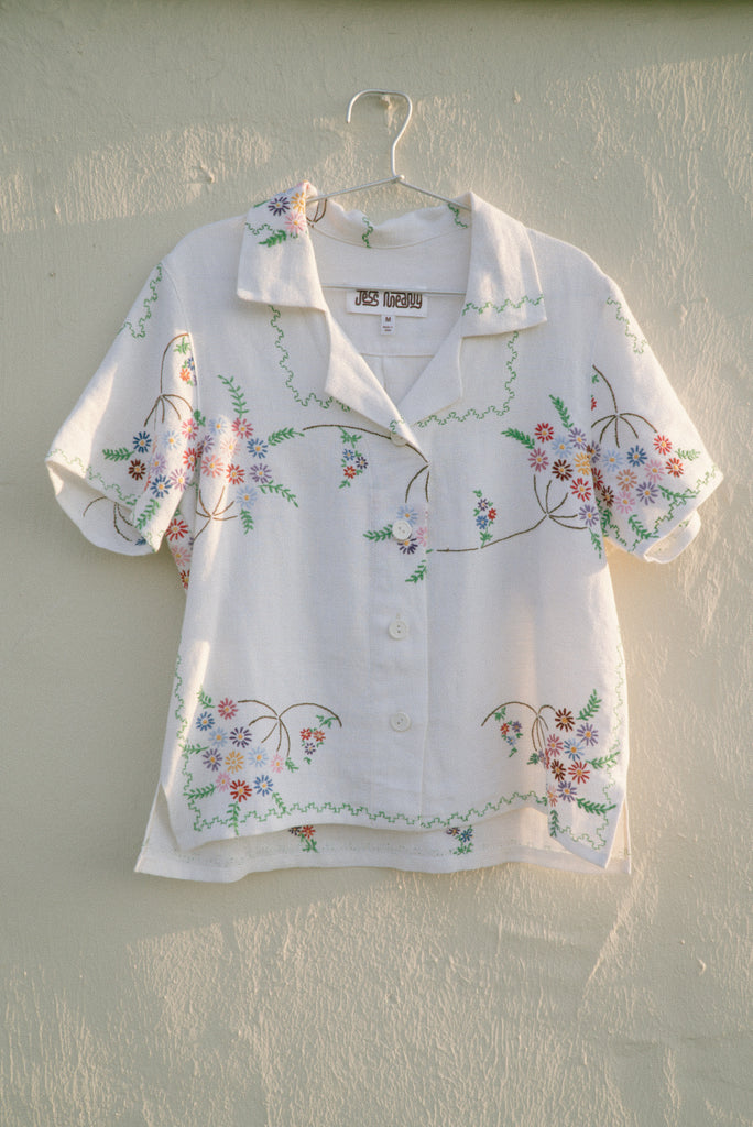 Embroidered Laguna Lounge Shirt - Medium
