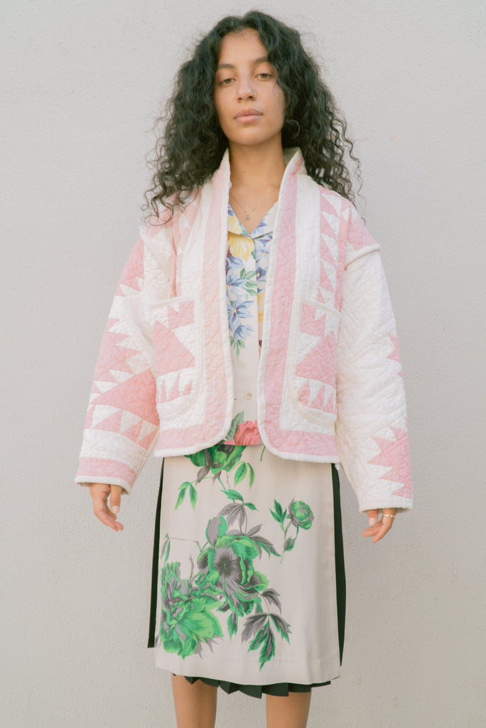 Sunrise Pink Juniper Cropped Coat