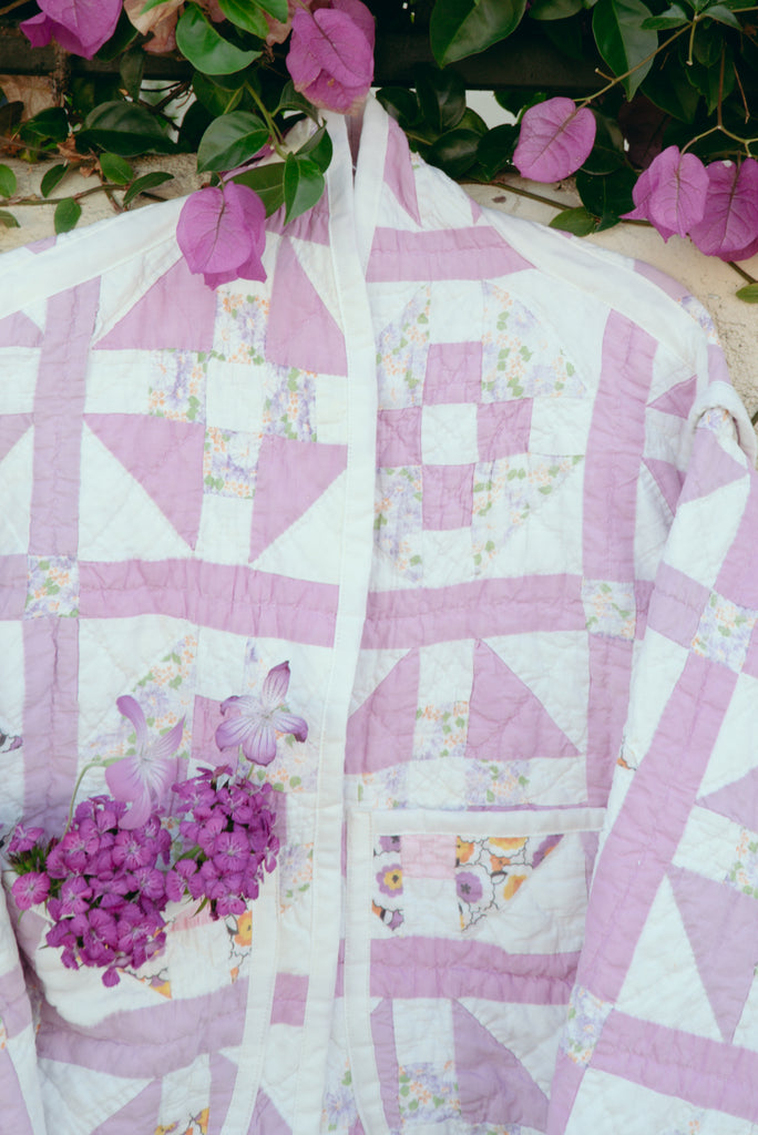 Lilac Windows Juniper Cropped Coat