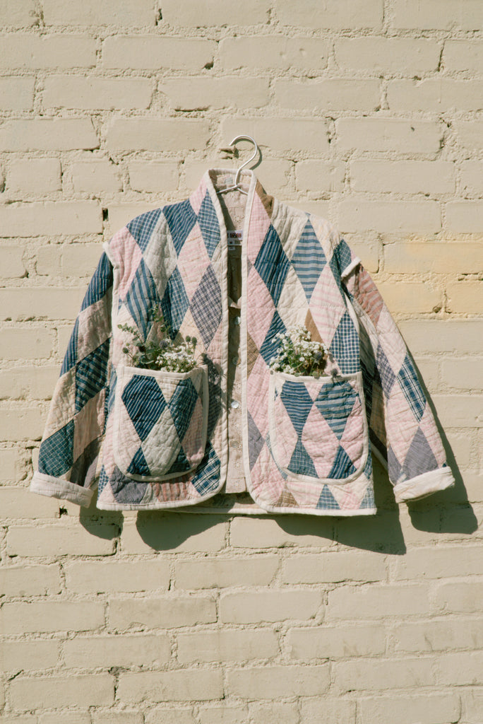 Pastel Patchwork Juniper Cropped Coat