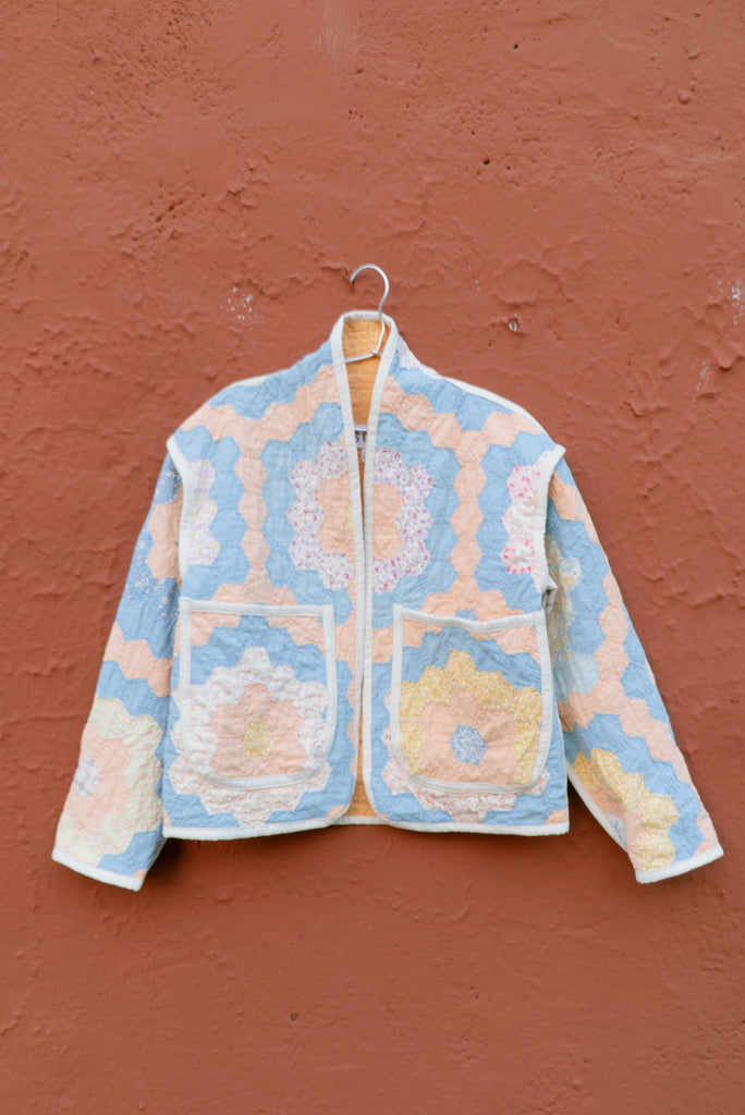 Sherbert Garden Juniper Cropped Coat - Small