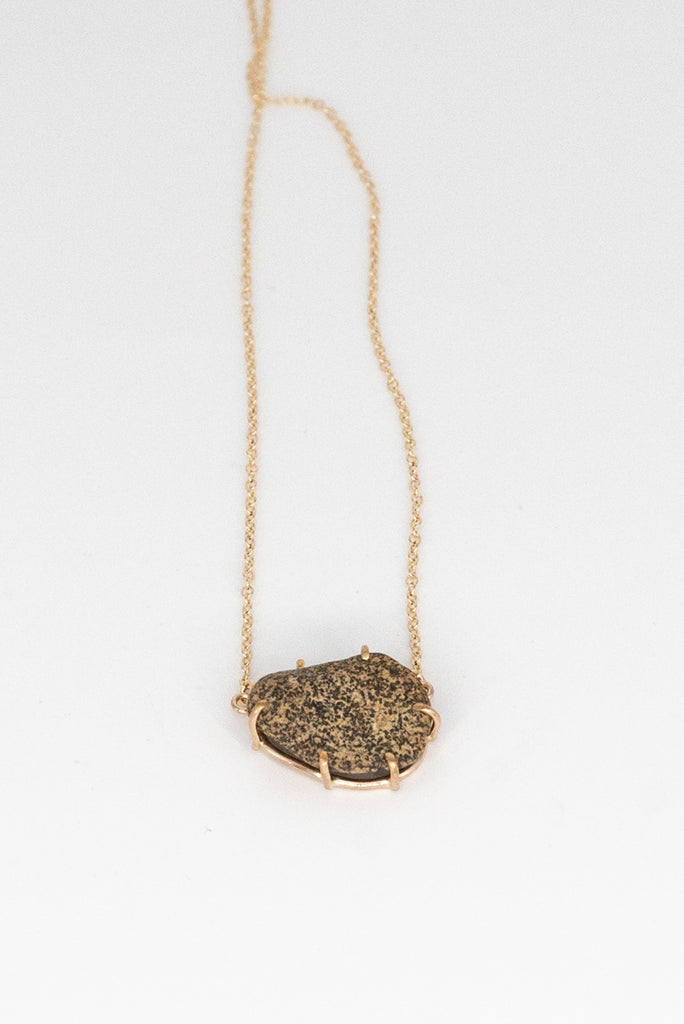 Found Stone Gold Filled Necklace Jewelry Jess Meany