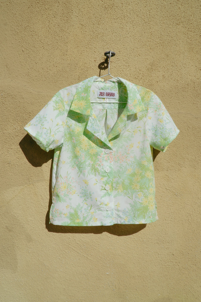 Pastel Ferns Laguna Lounge Shirt: X-Small & Small