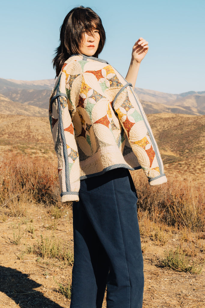 Patchwork Medallion Juniper Cropped Coat