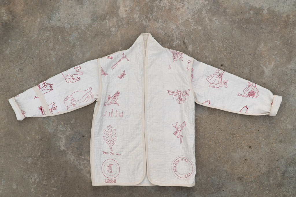 Redwork Embroidery One Kalina Cocoon Coat - Medium