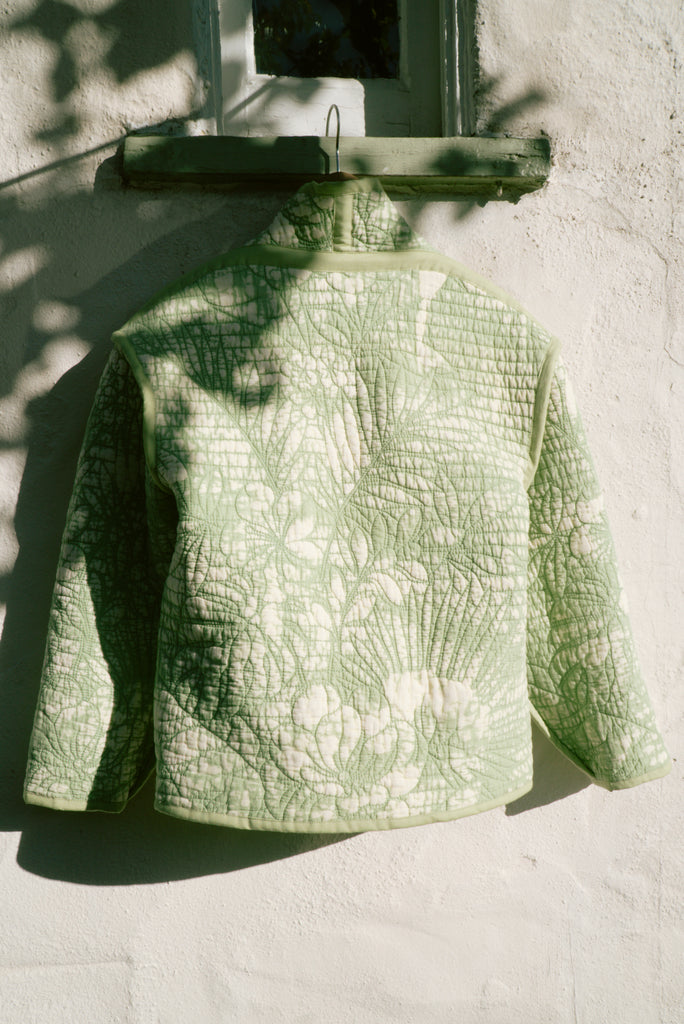 Tropical Lime Juniper Cropped Coat
