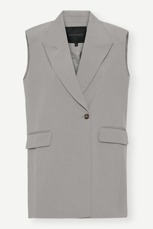 Phoebe Vest - Light Grey
