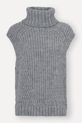 Vanya Knit Vest - Light Grey