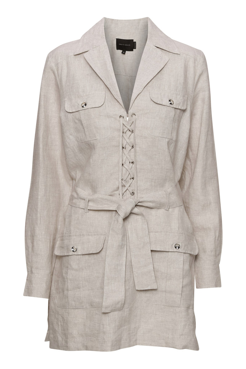 Loulou Shirt Dress - Desert Sand