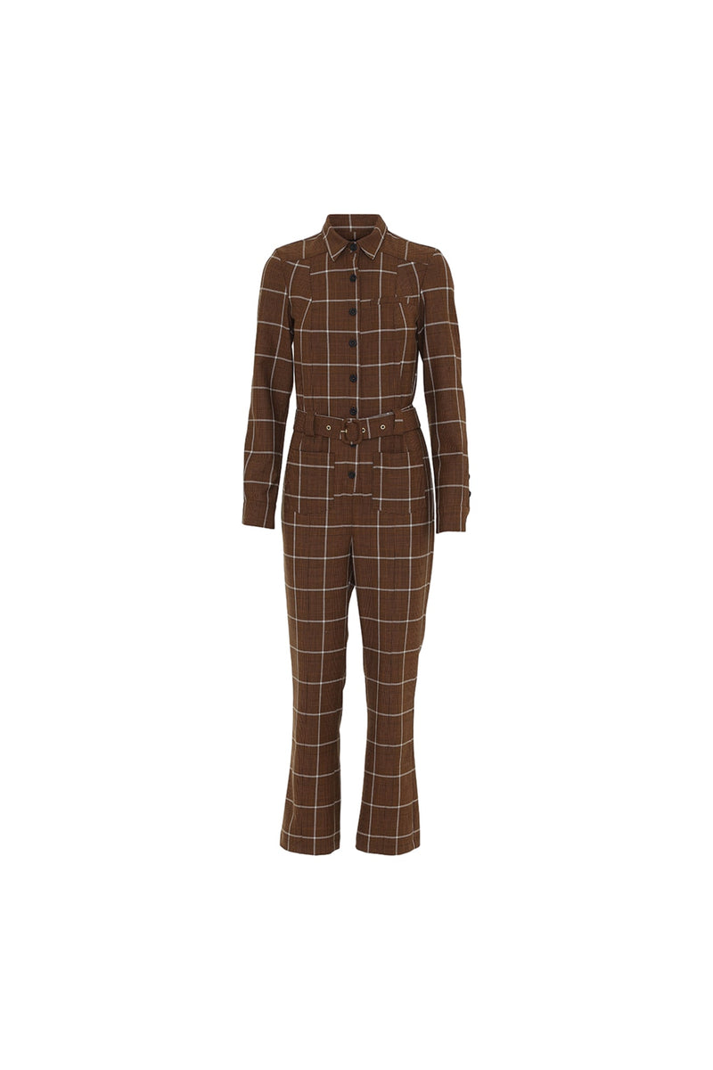 Elin Jump suit - Brown Checks