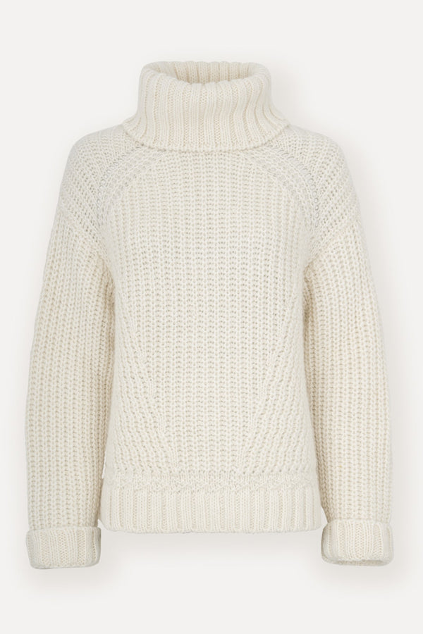 Vic Knit Turtleneck - Off White