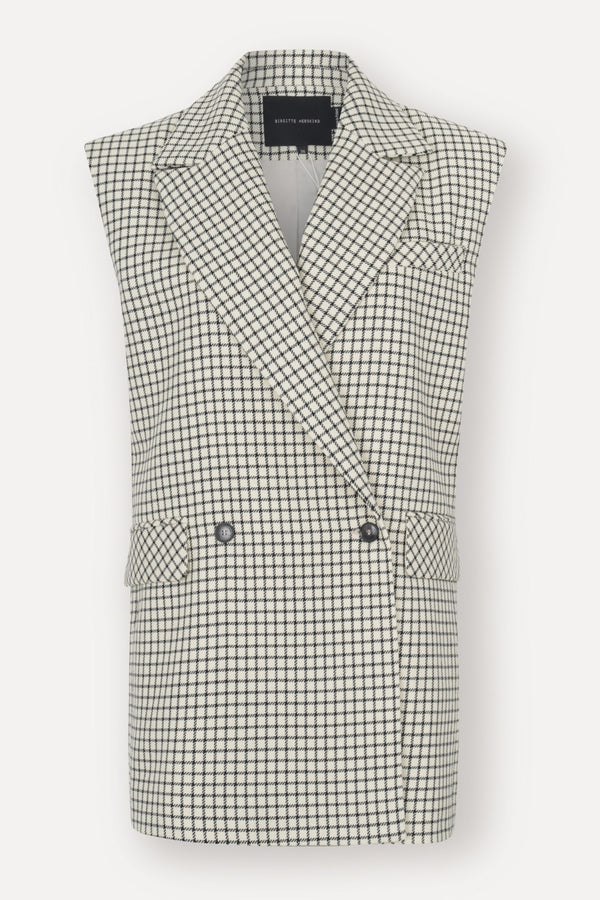Bonnet Blazer Vest - Checks