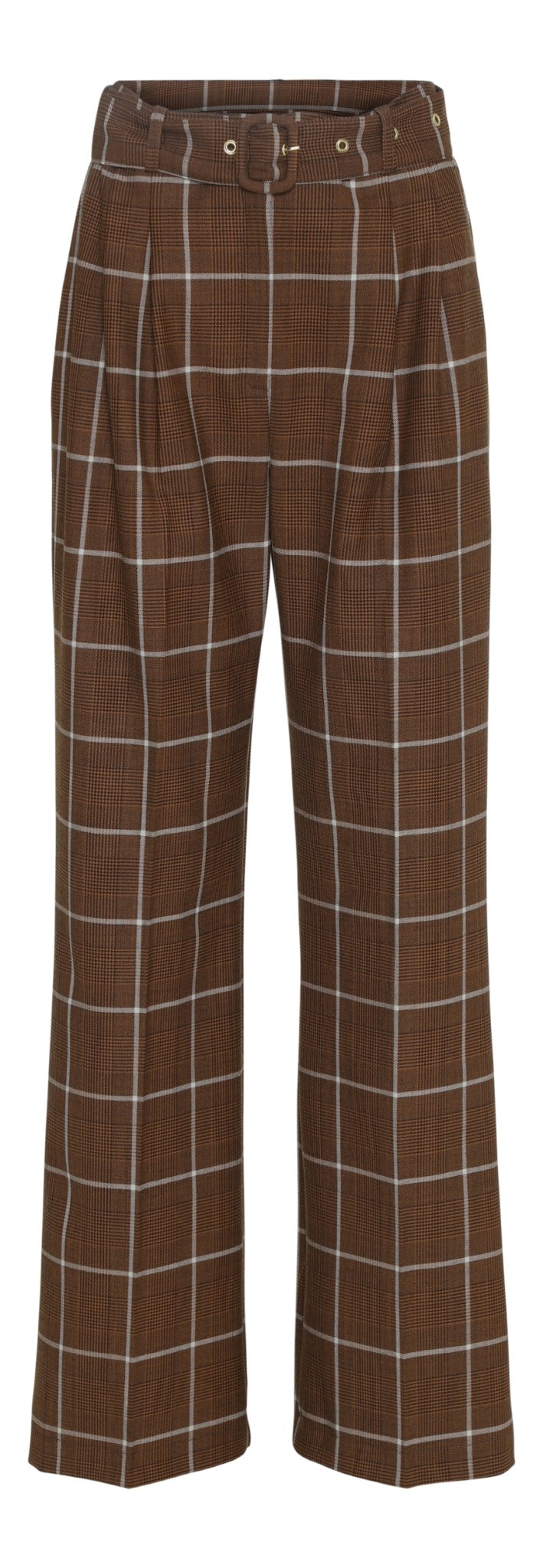 Ashia Pants - Brown Checks