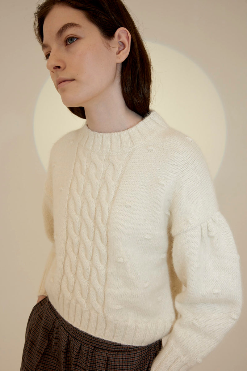 Ellie  Knitwear - Off-white