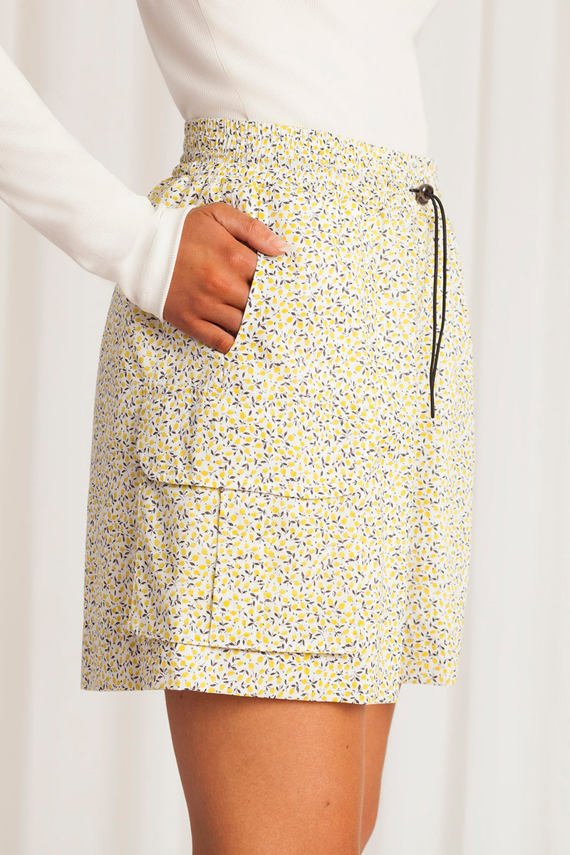 Berta Shorts - Yellow Liberty