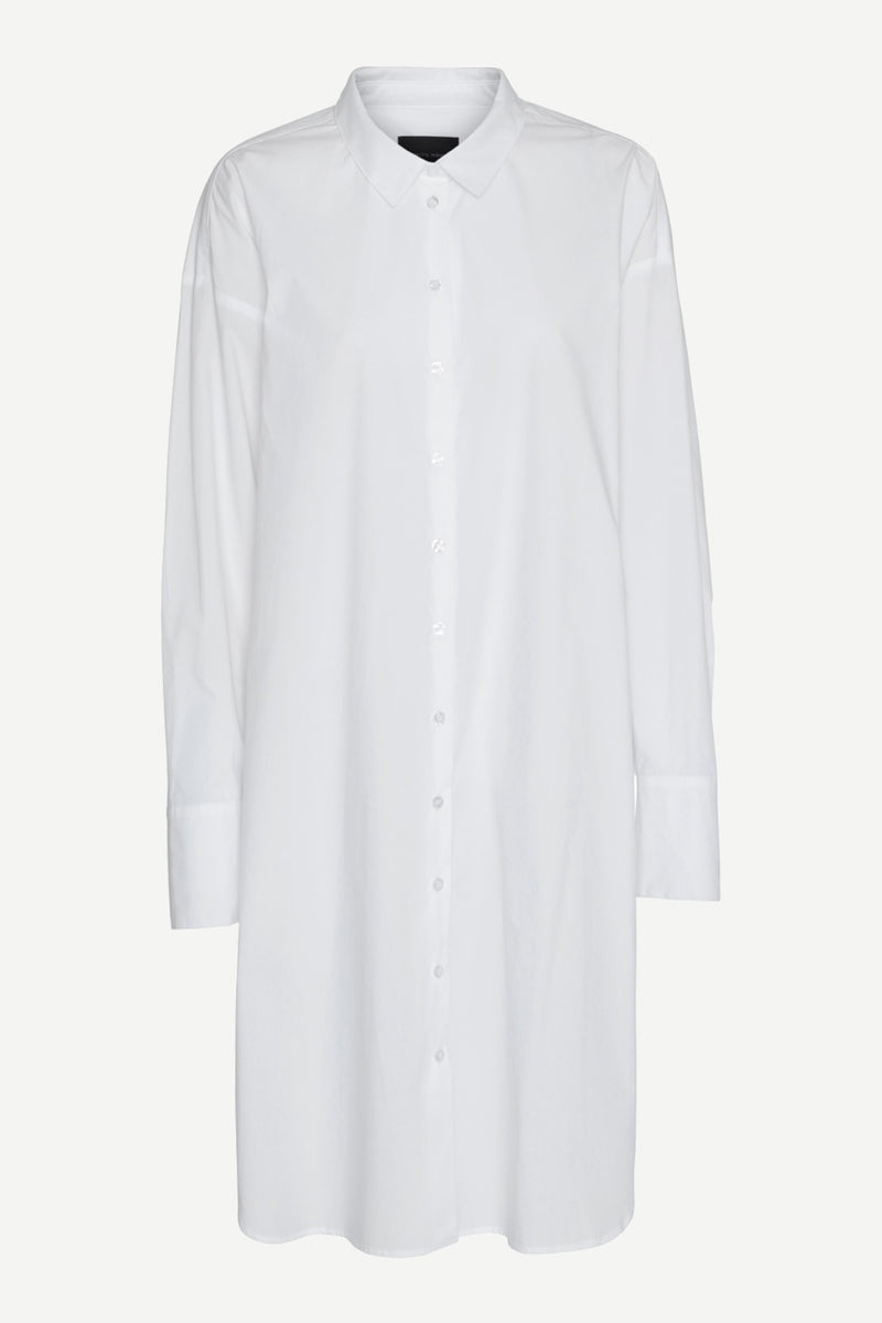 Nilly Shirt Dress - White
