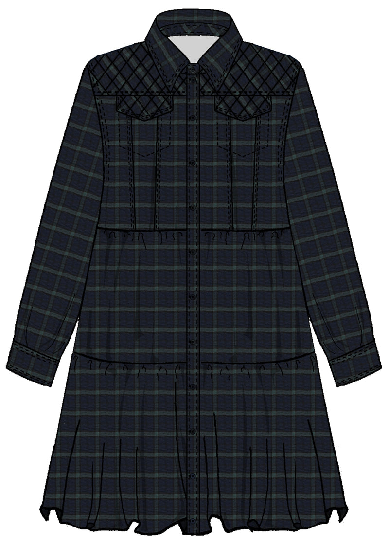 Sabrina Dress - Tartan