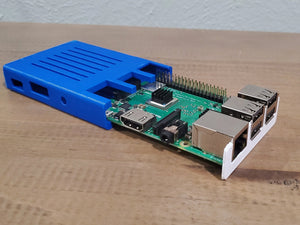 Raspberry Pi 3 B+ Slim Case Low Profile Enclosure with USB, HDMI, and GPIO