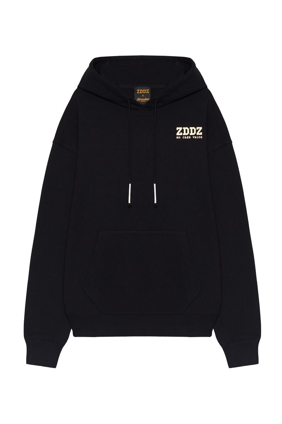 Hoody Unisex ZDDZ 'No cash value' - ZDDZ x Adrenaline Rush Collaboration