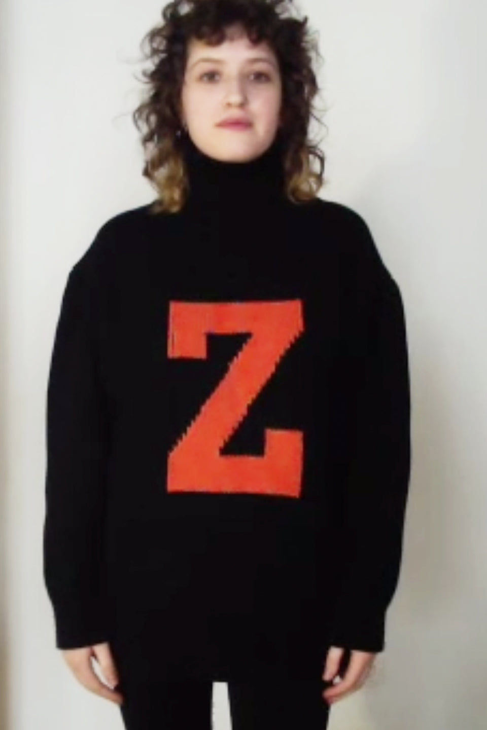 Z D Intarsia Orange Jumper