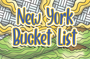 New York State Bucket List Printable Coloring Book - 33 Pages