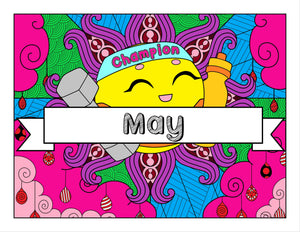 May and Sports-Themed Printable Coloring Pages & Journal Planner