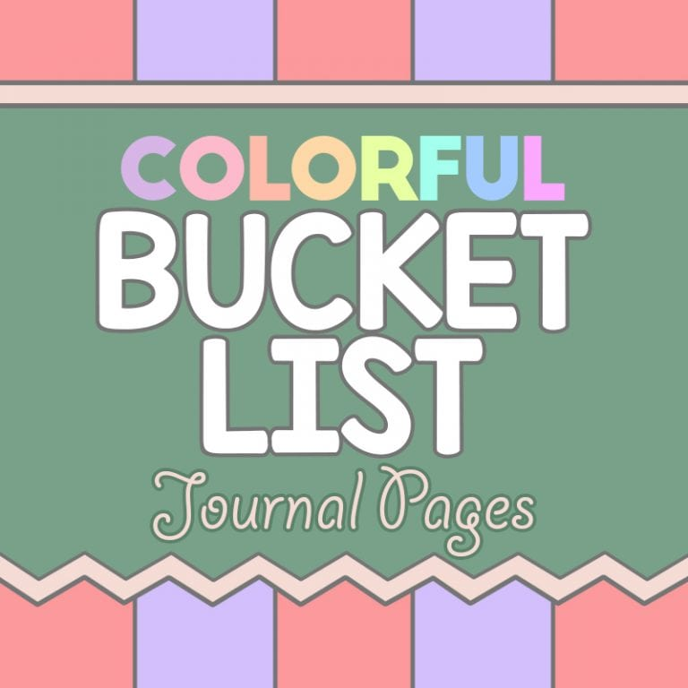 Colorful Bucket List Planner - Printable & Digital Journal Book - 35 Pages