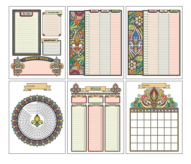 Fleur De Lis Precious Planner - Fleur De Lis-Themed Printable and Digital Undated Planner
