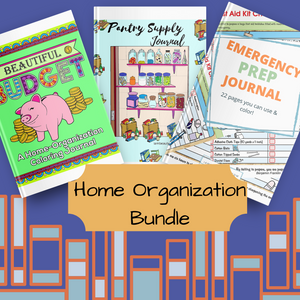 Home Organization Printable Coloring Planner Journal Bundle