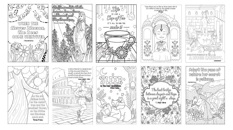 Awesome Inspiration Quotes 10-Page Printable Coloring Book PDF